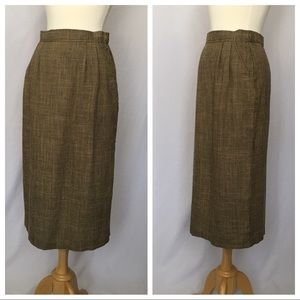 Vintage Houndstooth Pencil Skirt, Great Condition